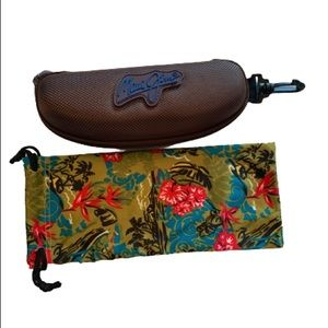 Maui Jim Hard Cover Zipper Case & Silk Sleeve
